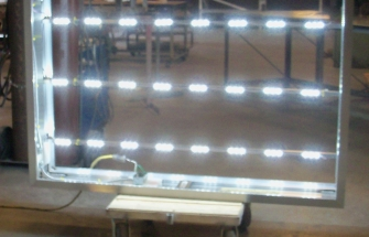 Double Face Frame with T-Bars and LED Lighting